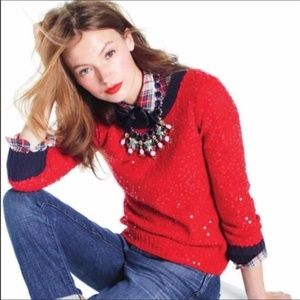 Celebration sweater  by J.Crew sequins throughout
